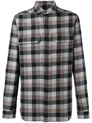 Rick Owens Concealed Button Shirt Grey