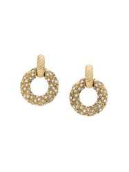 Yves Saint Laurent Vintage Small Clip On Hoops Gold