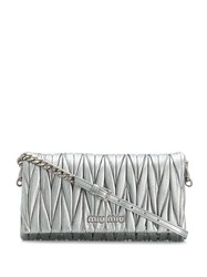 Miu Miu Quilted Shoulder Bag Grey