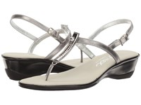 Onex Valencia Pewter Leather Women's Sandals