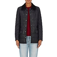 Barneys New York Women's Quilted Leather Jacket Blue
