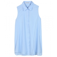 Acne Studios Ash Sleeveless Cotton Shirt Pale Blue