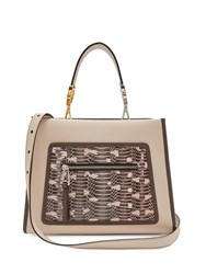Fendi Runaway Watersnake And Leather Bag Light Pink
