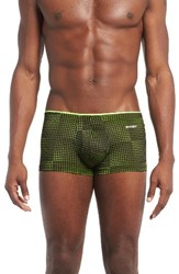 2Xist Men's 2 X Ista Sliq Micro Trunks Black Neon Yellow
