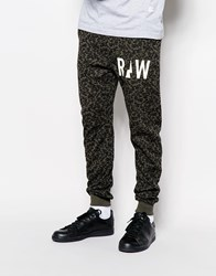 G Star G Star Sweat Pants Micro Forest Tapered Fit Cuffed Asfalt Camo Print Grey