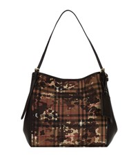 Burberry Shoes And Accessories Small Camouflage Horseferry Check Canter Shoulder Bag Female Green