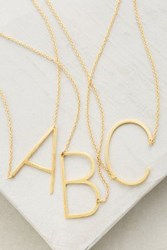 Anthropologie Monogram Pendant Necklace Assorted