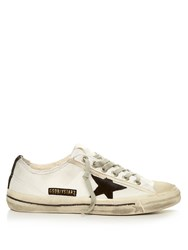 Golden Goose V Star Low Top Cord Trainers White Black