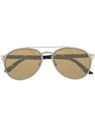 Cartier Aviator Frame Sunglasses 60