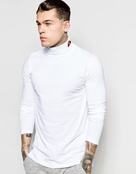Ellesse Long Sleeve Roll Neck With Small Logo White