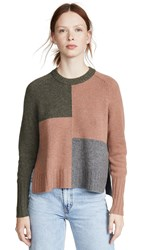 360 Sweater Hailey Cashmere Olive Toffee Mid Heather Grey
