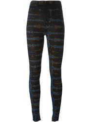 Raquel Allegra Tie Dye Print Leggings Blue