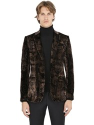 Etro Paisley Viscose And Silk Velvet Jacket