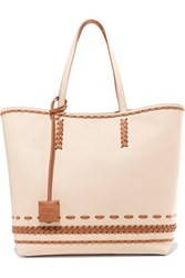 Tod's Gipsy Whipstitched Textured Leather Tote Ivory