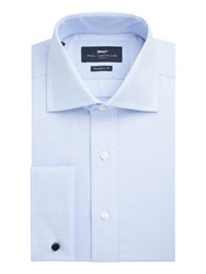 Paul Costelloe Men's Napier Micro Texture Shirt Blue
