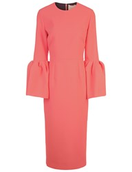 Roksanda Ilincic Coral Crepe Margot Dress Pink