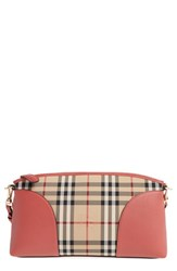 Burberry 'Horseferry Chichester' Leather And Nylon Crossbody Bag