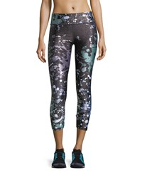 Terez Paint The Town Tall Band Performance Capri Leggings Black
