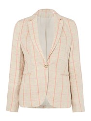 Gant Overcheck Linen Blazer Multi Coloured Multi Coloured