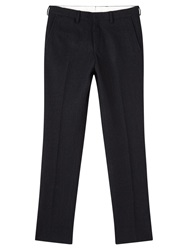 Jigsaw Wool Jacquard Smart Trousers Navy