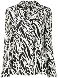 Diane Von Furstenberg Courtney Abstract Animal Print Silk Jacket 60