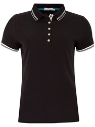 Green Lamb Claudine Club Polo Black