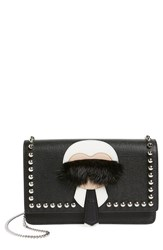 Women's Fendi 'Karlito' Genuine Mink Fur And Studded Leather Wallet On A Chain
