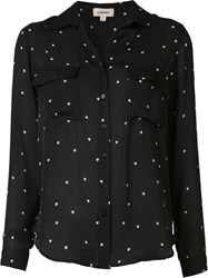 L'agence Star Print Shirt Black