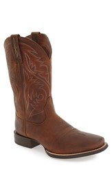 Ariat Men's 'Sport Herdman' Cowboy Boot Powder Brown Leather