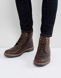 Red Tape Brogue Boots Brown
