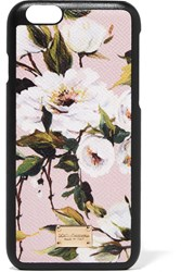 Dolce And Gabbana Printed Textured Leather Iphone 6 Case Pastel Pink