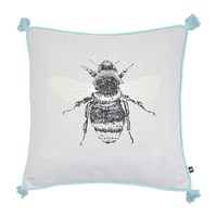 Joules Bumblebee Cushion With Tassels 40X40cm Silver