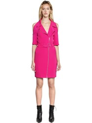 Jeremy Scott Crepe Biker Dress