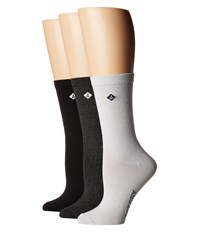 Sperry Crews 3 Pack White Marl Assorted Crew Cut Socks Shoes Multi