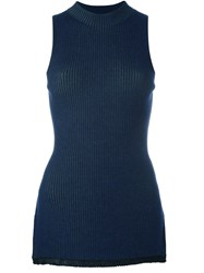 3.1 Phillip Lim Knitted Tank Blue
