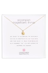 Dogeared Women's Starburst Pendant Necklace
