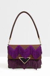 Sara Battaglia Tassle Shoulder Bag Brown