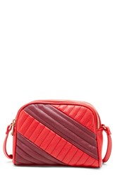 Sole Society Linza Faux Leather Crossbody Bag Red Berry Combo