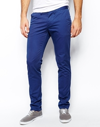United Colors Of Benetton Slim Fit Chino With Wash Blue