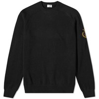 Saint Laurent Arm Crest Crew Knit Black
