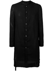 Tom Rebl Shirt Jacket Men Cotton Linen Flax Polyamide Viscose 52 Black