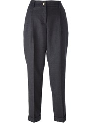 Class Roberto Cavalli Tailored Cropped Trousers Grey