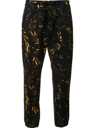 Osklen Bay Leaves Jogging Pants Black
