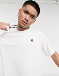 Russell Athletic Baseliner T Shirt With Chest Logo In White