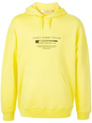 Givenchy Street Casting Logo Print Hoodie Yellow