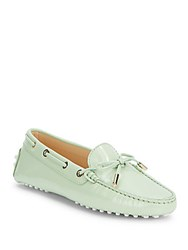 Tod's Heaven New Laccetto Occhielli Loafers Light Green