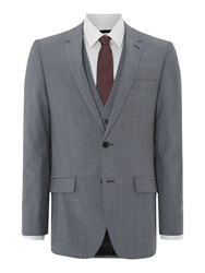 Kenneth Cole Wool Mohair Suit Jacket Grey