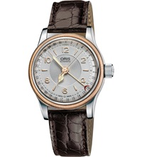 Oris 4361 07 5 14 52 Big Crown Original Rose Gold Plated Stainless Steel Watch Silver
