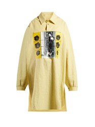 Jw Anderson X Gilbert And George Print Striped Cotton Shirt Yellow