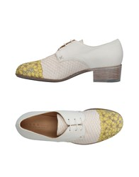 Ink Lace Up Shoes White